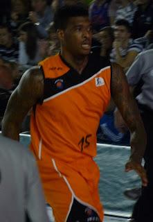 C. García durante el partido.