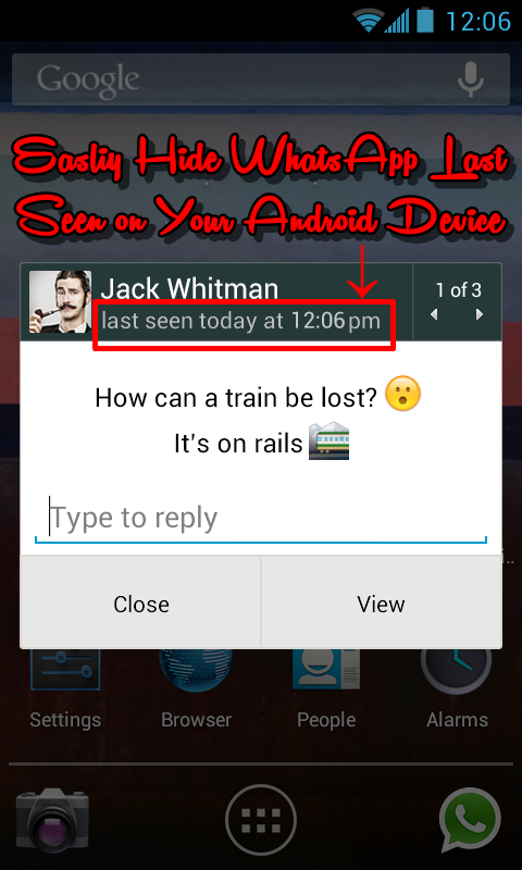 How to Easily Hide/Disable Whatsapp Last Seen for Android Device