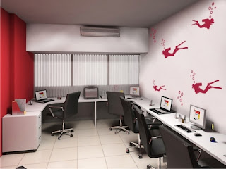 como decorar um escritório