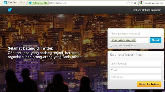 Cara Membuat Akun Twitter Baru 1