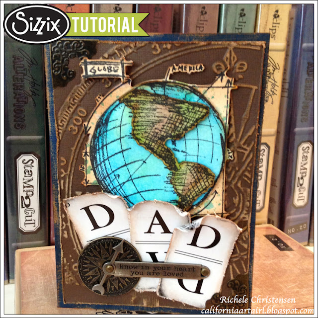 Sizzix Die Cutting Tutorial: Father's Day Stamp2Cut Card by Richele Christensen