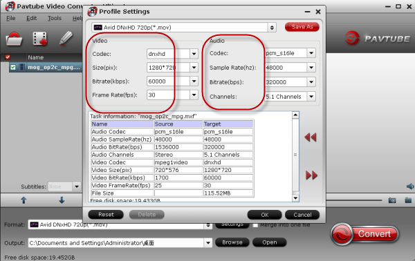 settings-for-output-format