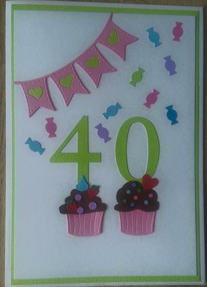 kort til 40 års fødselsdag