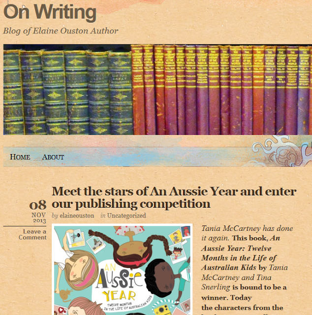 http://elaineoustonauthor.com/2013/11/08/meet-the-stars-of-an-aussie-year-and-enter-our-publishing-competition/