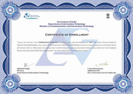 Mr. Mukesh Hajela: Certificate from Govt. of India, Department of IT ...