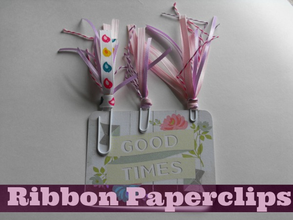 How to make your own ribbon paperclips for planners