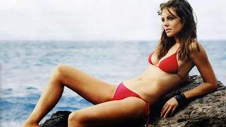 Elizabeth hurley at beach hot desktop best wallpapers