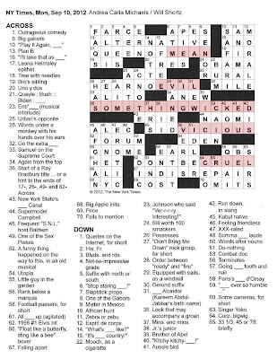 The new york times crossword in gothic this for Farcical crossword clue