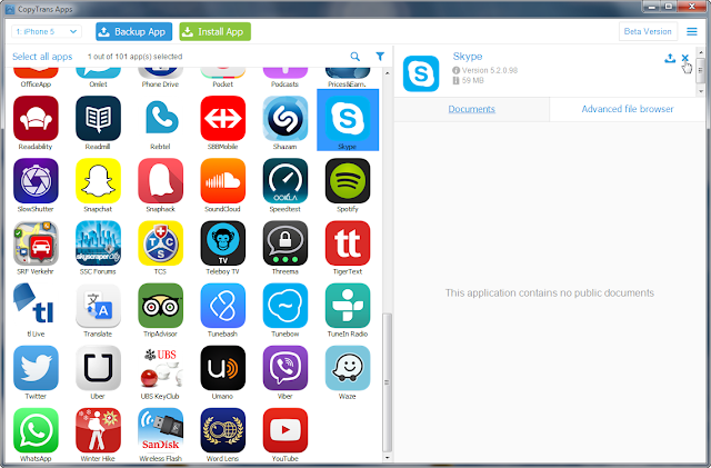 click to uninstall skype from iphone