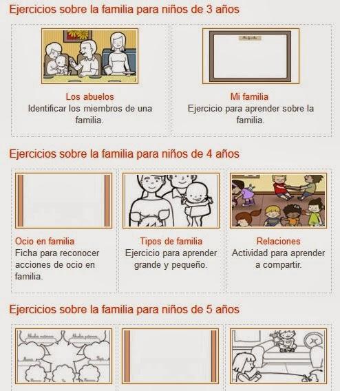 distintos tipos de familia: