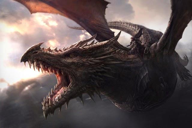 Aegon Targaryen y Balerion