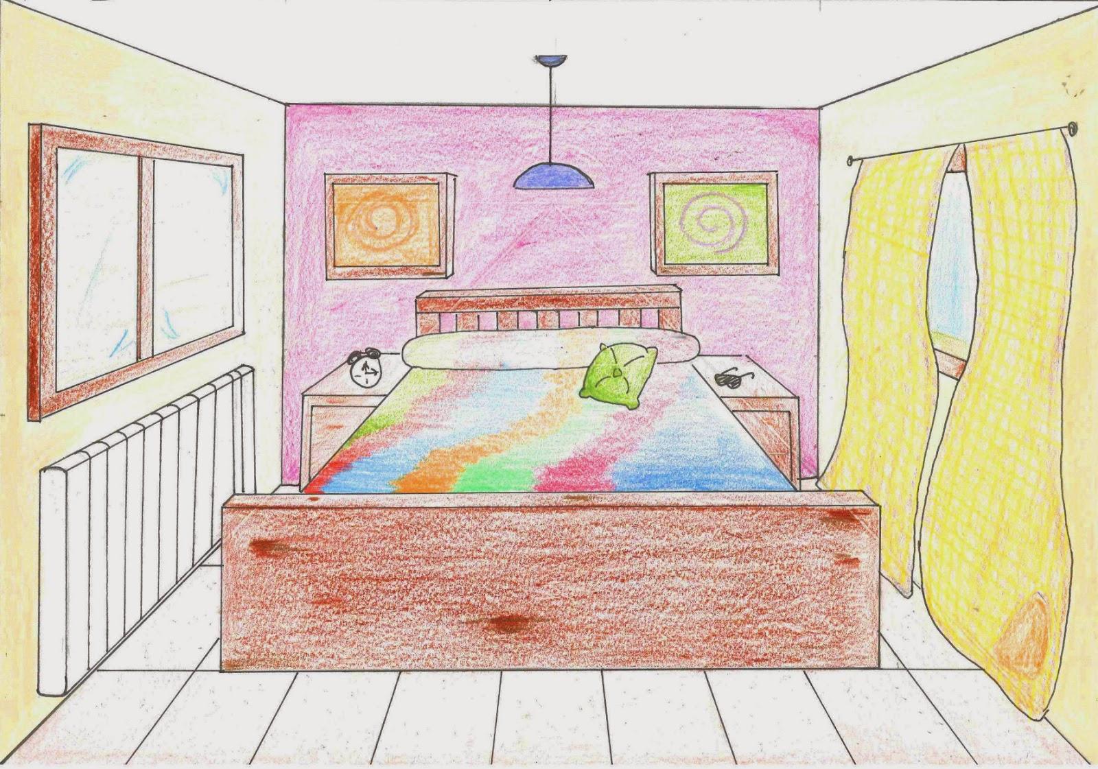 Lida pl stica habitaci en perspectiva c nica - Habitacion en perspectiva conica ...