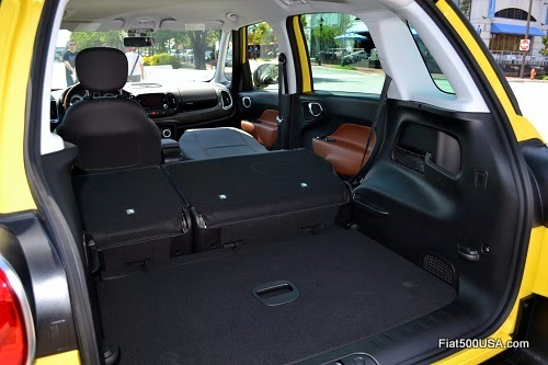 Fiat 500L luggage area