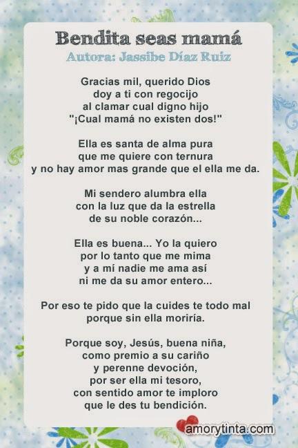 imagen con poema para el dia de la madre