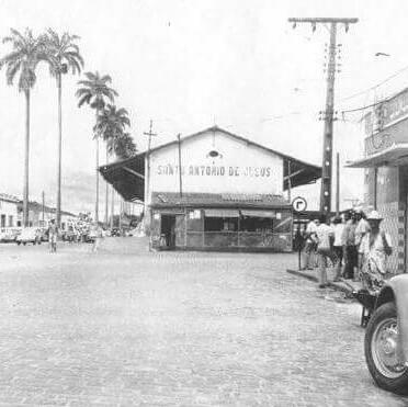 A velha estação ferroviária em Santo Antônio de Jesus - Bahia