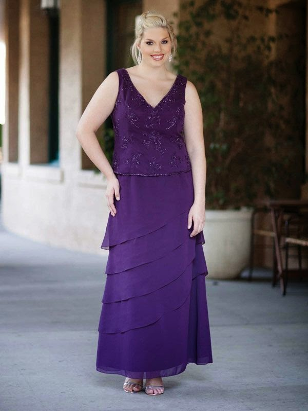 V-neck colorfull dress for mothers of the bride with natural waist