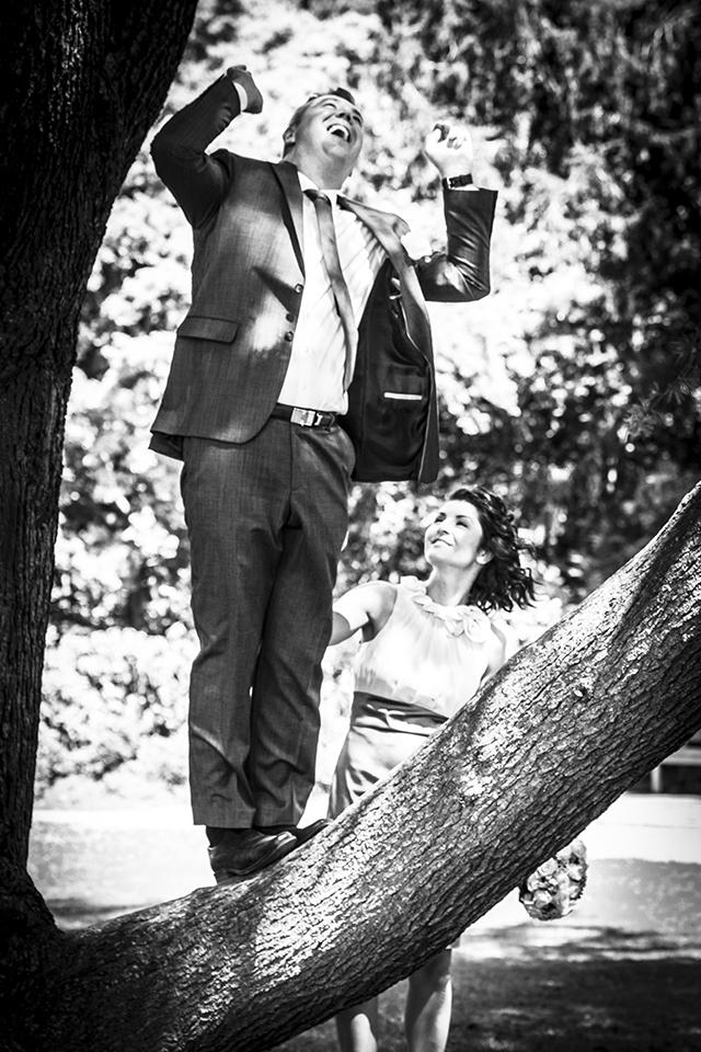 Hochzeitsshooting Baum im Nordpark
