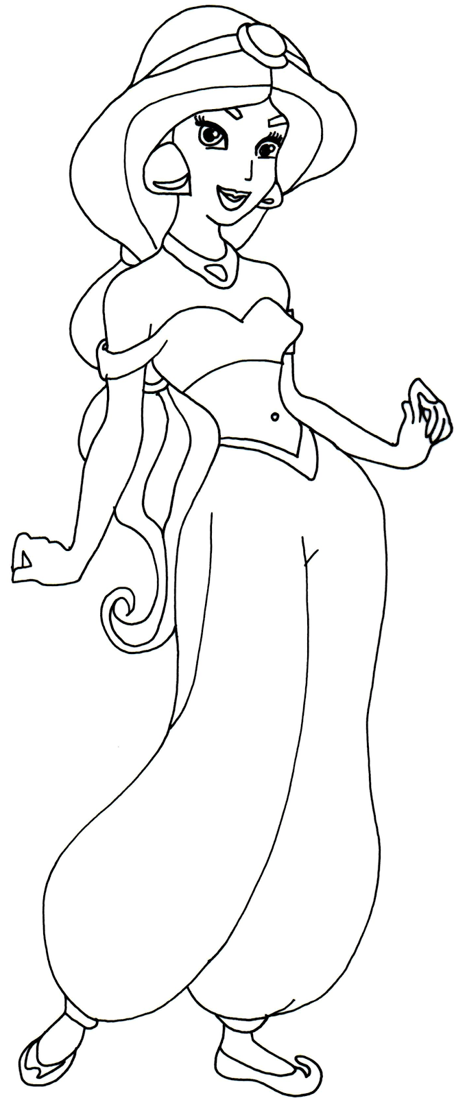 jasmine coloring pages to print - photo#12