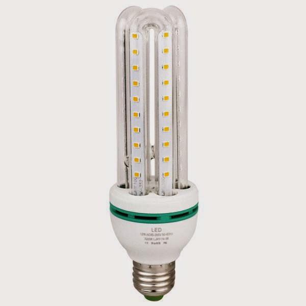 Lampadina lampada tubo led luce bianca fredda e27 for Risparmio energetico led