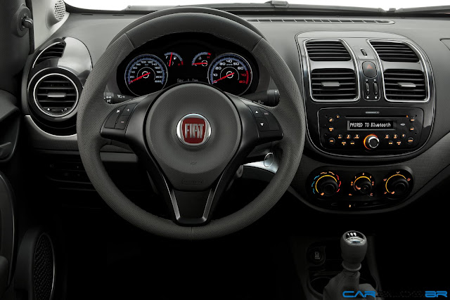 Fiat Grand Siena Attractive 2013 - painel