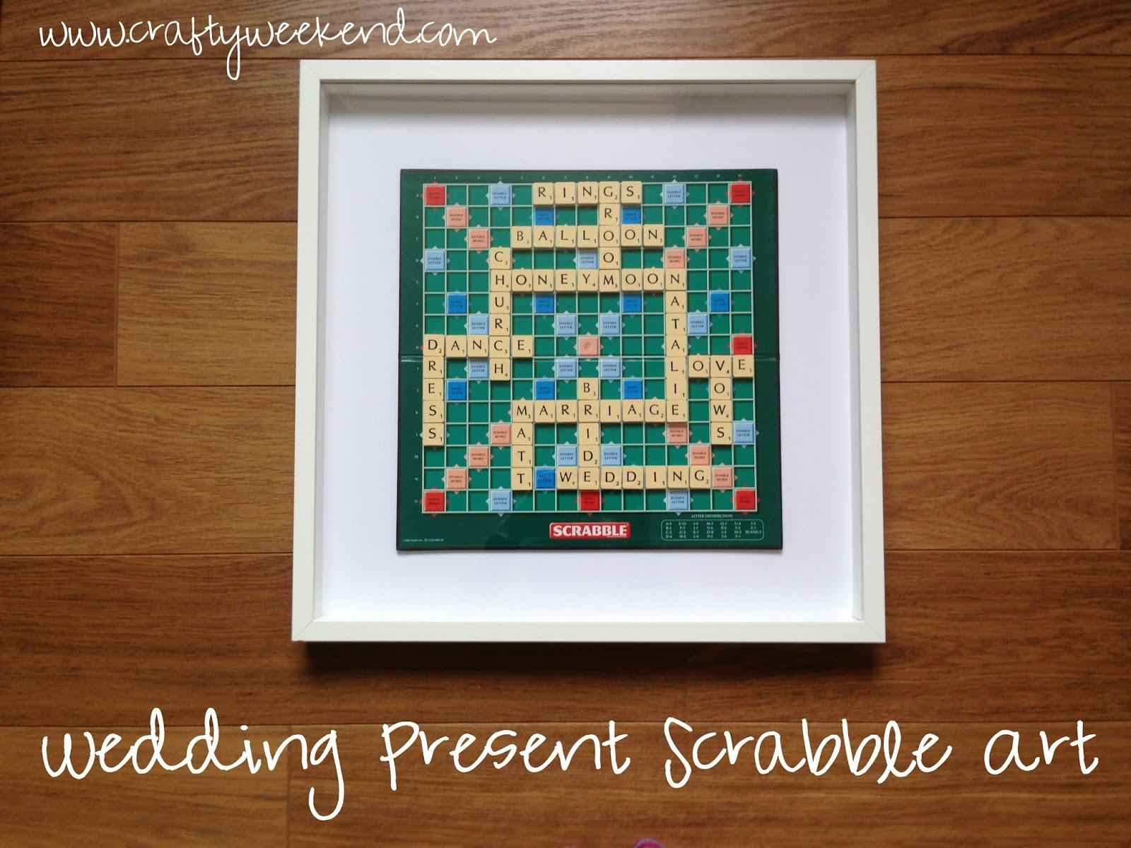 Personalised Wedding Present Scrabble Word Art