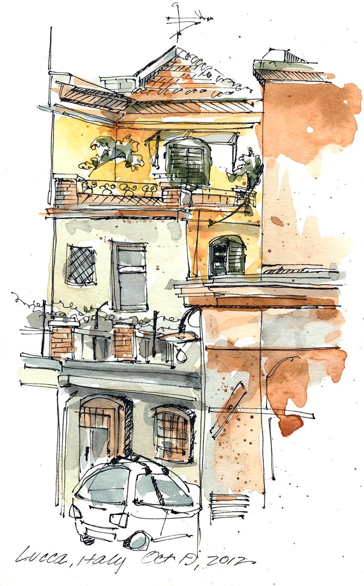 Sketchbook Lucca Italy 2012