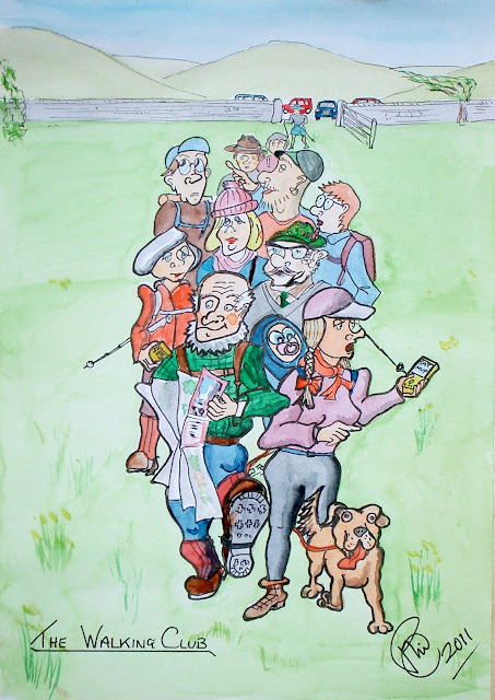 cartoon picture of walking club