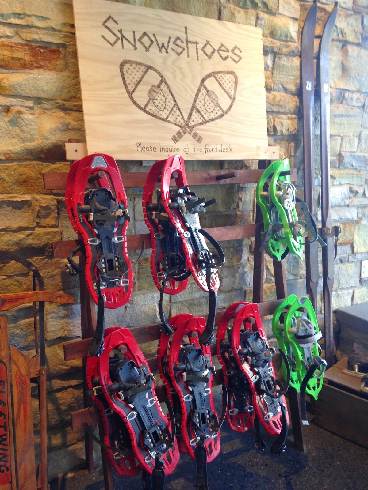 Snowshoes at Hotel Vermont