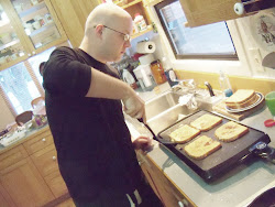 Justin: cooking his famous French toast