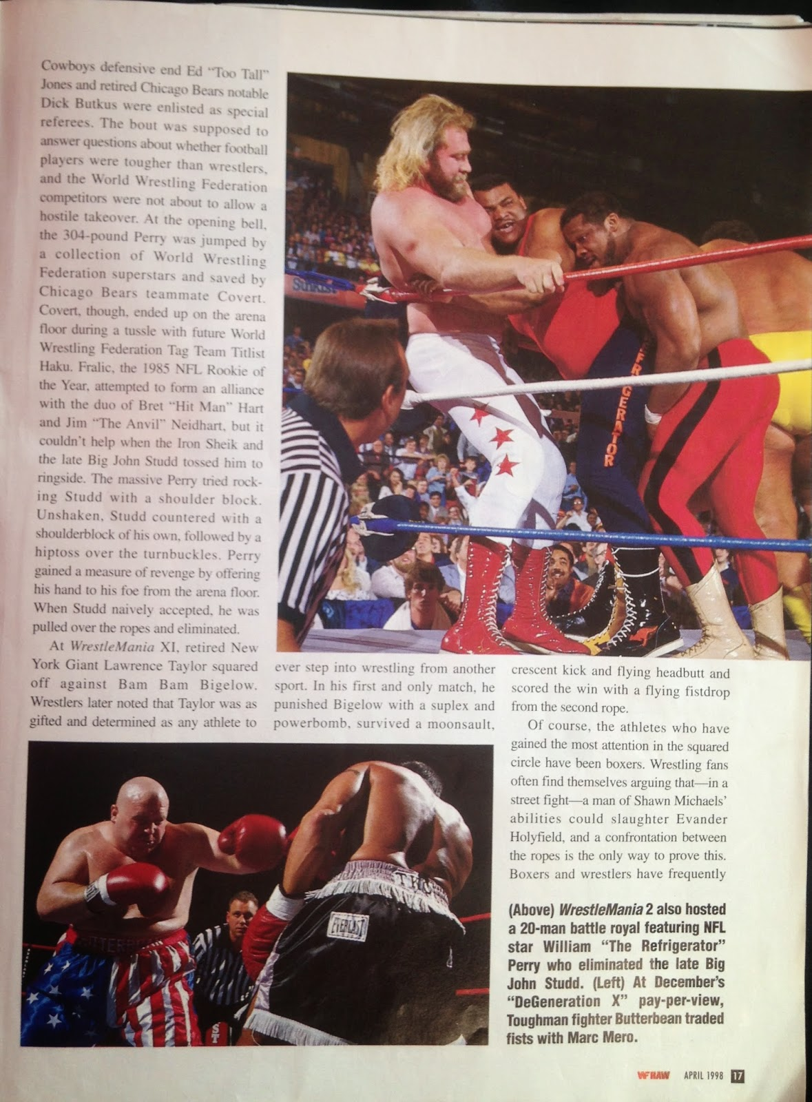 WWE - WWF Raw Magazine - April 1998 -   Butterbean and Marc Mero