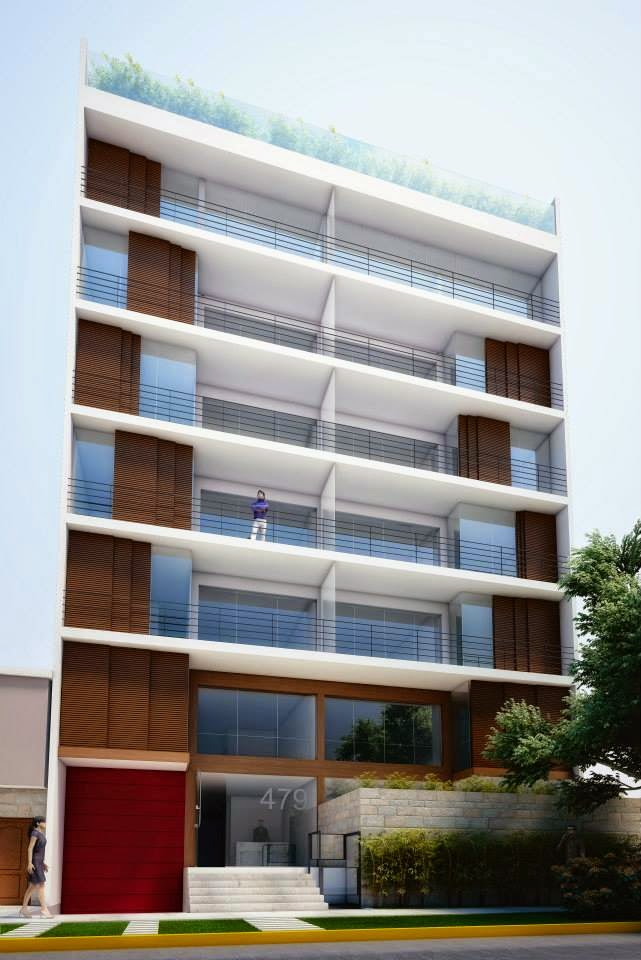 Fachadas de edificios de departamentos fachadas de casas Pisos modernos para casas minimalistas