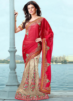 Sushmita Sen in red Lehenga