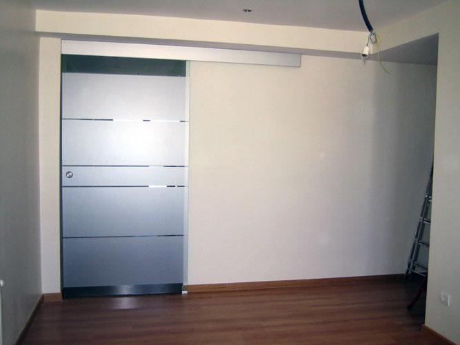 Puertas correderas de cristal cocinas modernass - Puertas correderas madera y cristal ...