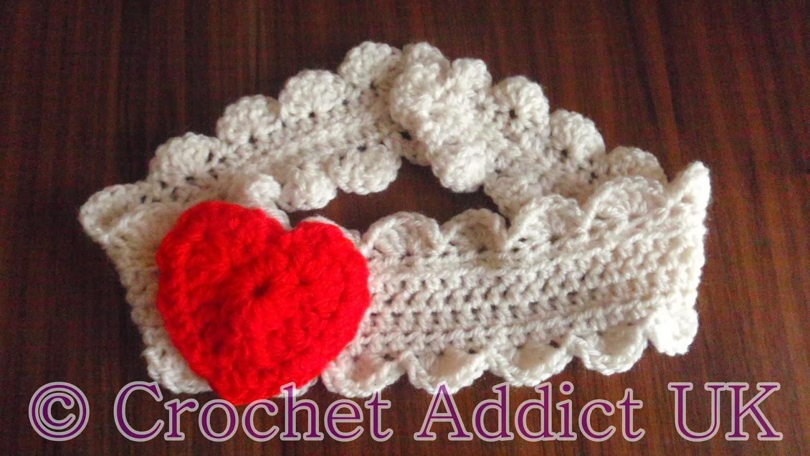 Valentine Headband Free Pattern ~ Crochet Addict UK