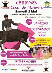 """Manolo Vanegas, compite en el certamen """"Coso Parentis"""", el 1/05."""