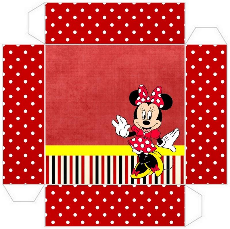 Minnie Vermelha – Kit Completo de molduras para convites, rótulos ...
