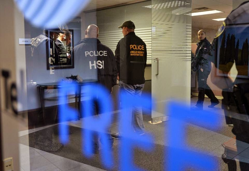 Federal agents from the FBI and Homeland security raid Telexfree headquaters