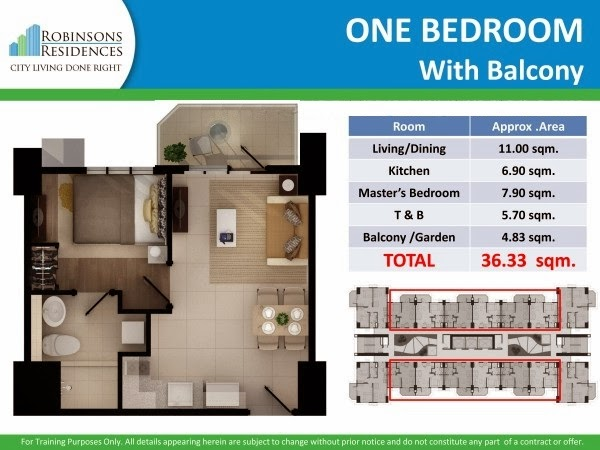 Delta Residences Davao - One Bedroom with Balcony
