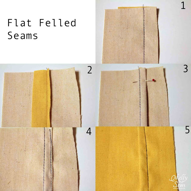 How to sew flat felled seams - How to finish seams - Melly Sews