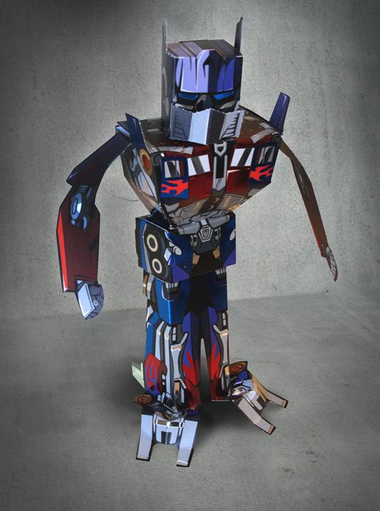 Keith allen designs optimus prime paper toy - Optimus prime dessin ...