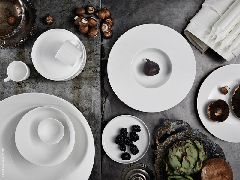 white Ikea tableware