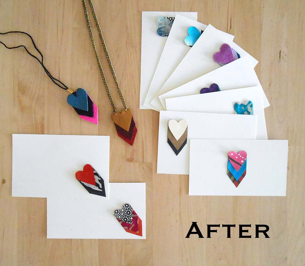 We Can ReDo It Chevron Heart Necklaces With Valentine Note Cards – Valentine Note Cards