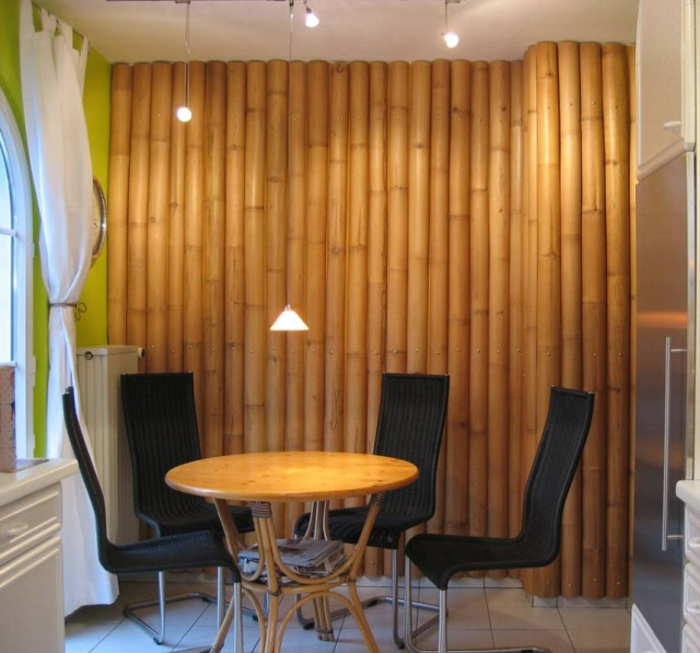 Neo arquitecturaymas originales paredes decoradas con bamb - Canas de bambu decoracion exterior ...