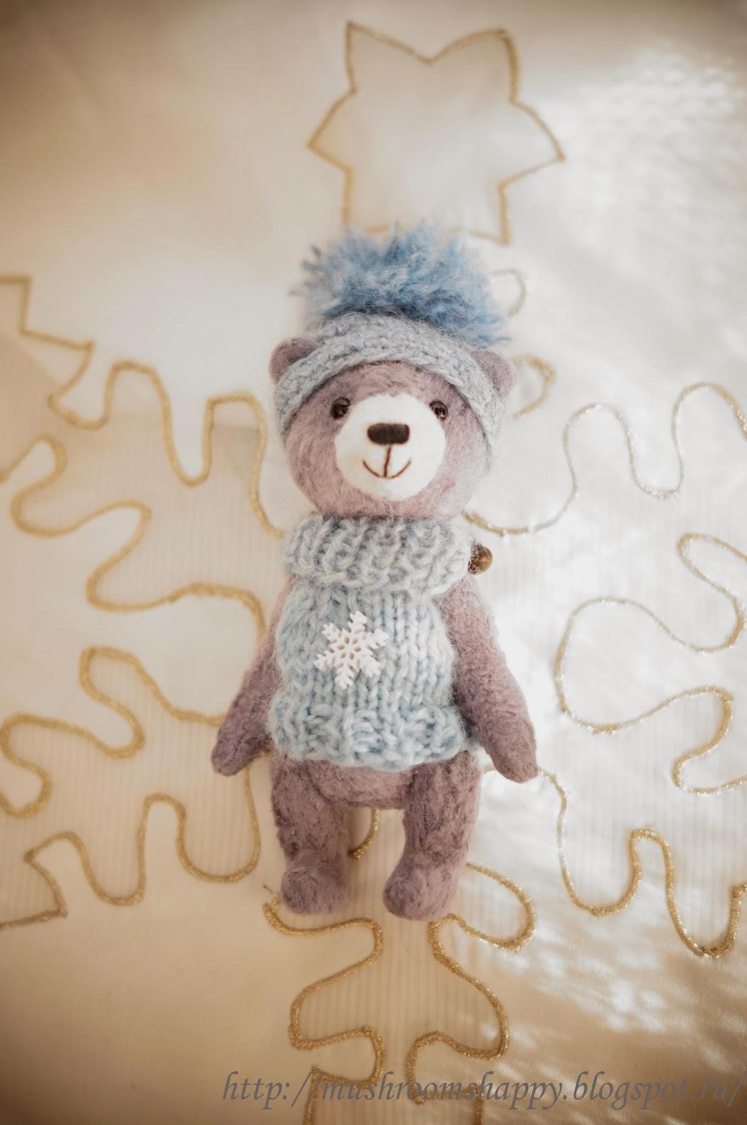 снежинка, снежный медведь, тедди