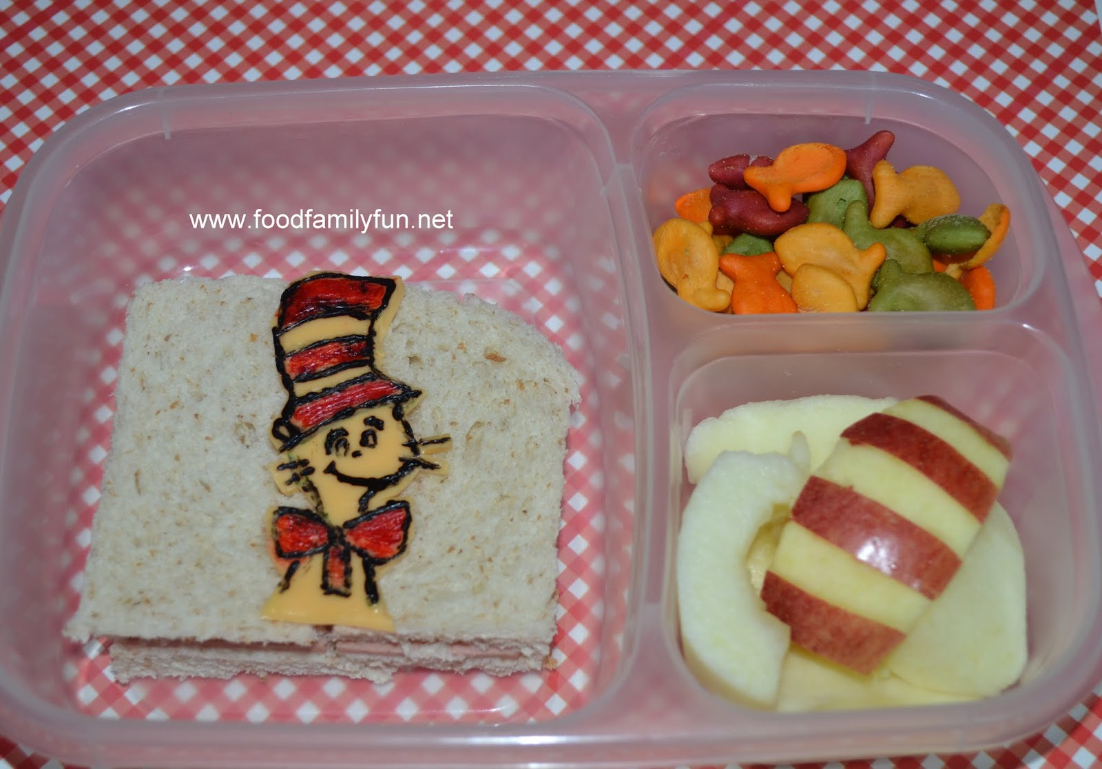 Cat In The Hat lunch - Cheese drawing