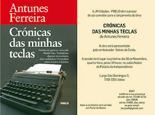 Em Portugal, Antunes Ferreira apresenta seu livro de crônicas