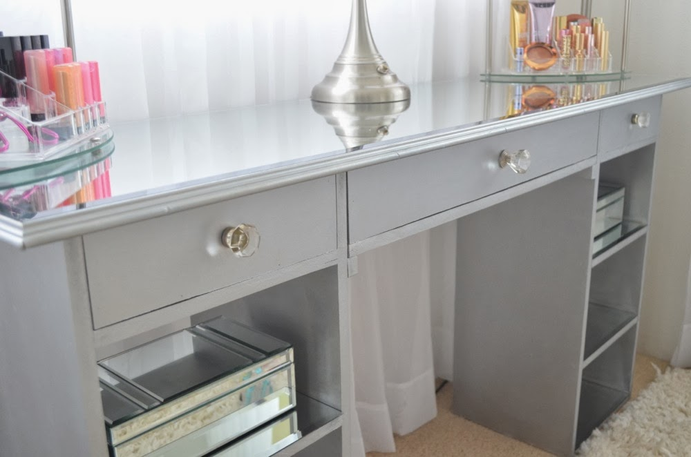 diy corner vanity table. DIY Mirrored Vanity Modern Bohemian Lifestyle