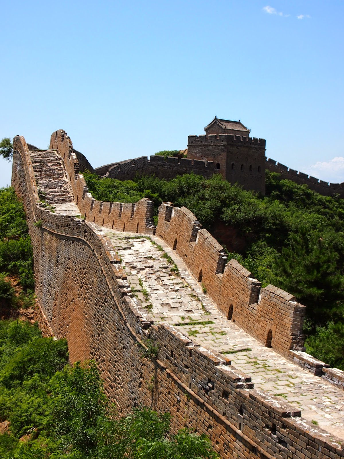 unrestored sections of the Great Wall