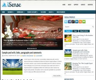 iSense-Blogger-Template