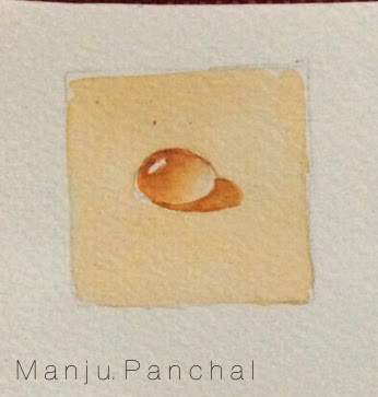 water drop painting by manju panchal on fabriano paper